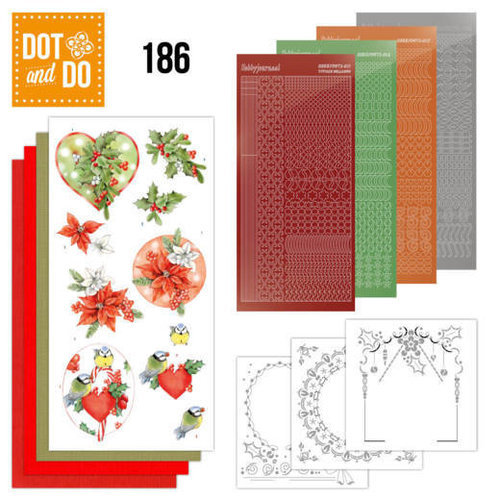 Dot en Do DODO186 - Dot and Do 186 - Jeanine's Art - Red Holly Berries