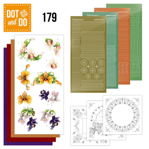 Dot en Do DODO179 - Dot and Do 179 -Precious Marieke - Delicate Flowers - Orchid