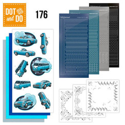 DODO176 - Dot and Do 176 - Yvonne Creations - Cars in Blue