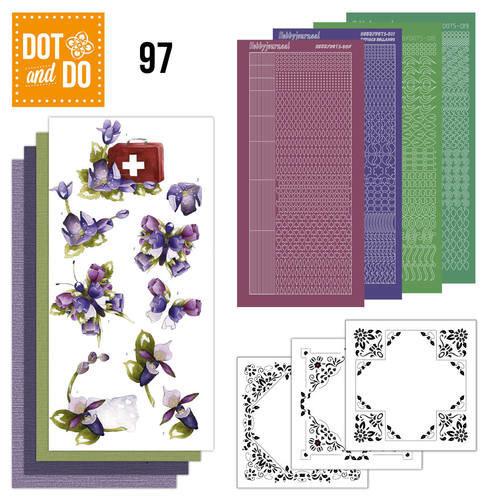 Dot en Do DODO097 - Dot and Do 97 - Purple Flowers