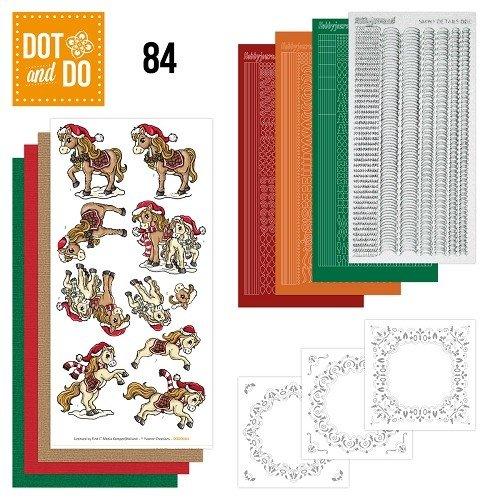 Dot en Do DODO084 - Dot and Do 84 - Yvonne Creations - Kerstpaarden