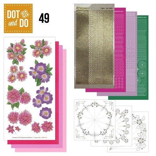 Dot en Do DODO049 - Dot and Do 49 - Roze Bloemen