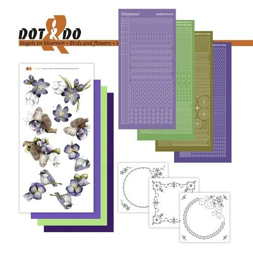 Dot en Do DODO032 - Dot and Do 32 - Vogels en bloemen