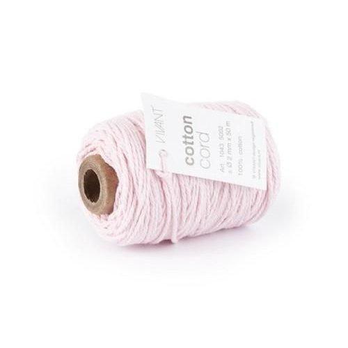 Vivant 1043.5002.10 - Vivant   Koord Katoen fijn roze - 50 MT 2MM