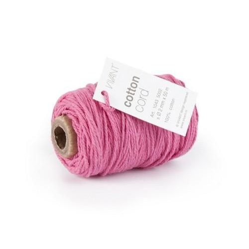 Vivant Vivant Koord Katoen fijn - fuchia roze - 50 meter 2mm