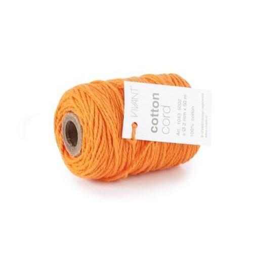 Vivant 1043.5002.57 - Vivant   Koord Katoen fijn oranje - 50 MT 2MM