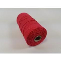 S.08.00.68.16.100 - Katoen Macramé touw spoel nr 16  +/- 1,5mm 100grs - rood +/- 110mtr