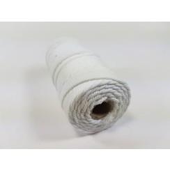 Katoen Macramé touw spoel nr 32  - +/ 2mm 100grs  wit - +/ 43mtr