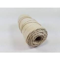 S.08.00.61.32.100 - Katoen Macramé touw spoel nr 32  +/- 2mm 100grs - ecru +/- 43mtr