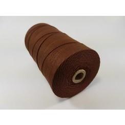 S.08.00.77.32.100 - Katoen Macramé touw spoel nr 32  +/- 2mm 100grs - bruin +/- 43mtr