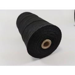 S.08.00.62.32.100 - Katoen Macramé touw spoel nr 32  +/- 2mm 100grs - zwart +/- 43mtr