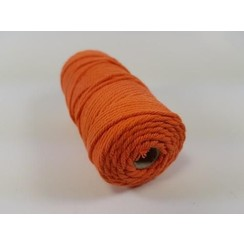 S.08.00.67.32.100 - Katoen Macramé touw spoel nr 32  +/- 2mm 100grs - oranje +/- 43mtr