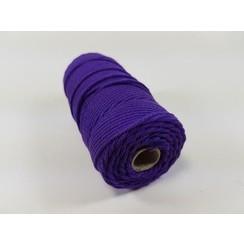 S.08.00.69.32.100 - Katoen Macramé touw spoel nr 32  +/- 2mm 100grs - paars +/- 43mtr