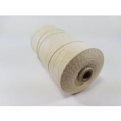 S.08.00.61.16 - Katoen Macramé touw spoel nr 16  +/- 1,5mm 500grs - ecru +/- 550mtr