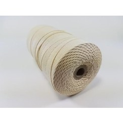 S.08.00.61.32 - Katoen Macramé touw spoel nr 32  +/- 2mm 500grs - ecru +/- 215mtr