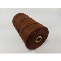 S.08.00.77.16 - Katoen Macramé touw spoel nr 16  +/- 1,5mm 500grs - bruin +/- 550mtr