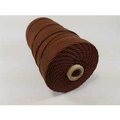 Katoen Macramé touw spoel nr 32  - +/ 2mm 500grs  bruin - +/ 215mtr
