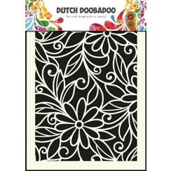 470.715.010 - Dutch Doobadoo Dutch Mask Art stencil flower swirl - A5 15.010