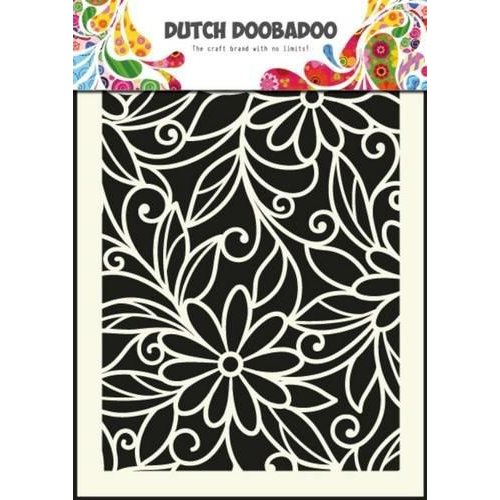 Dutch Doobadoo 470.715.010 - Dutch Doobadoo Dutch Mask Art stencil flower swirl - A5 15.010