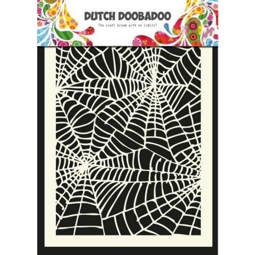 Dutch Doobadoo 470.715.011 - Dutch Doobadoo Dutch Mask Art stencil spiderweb - A5 15.011