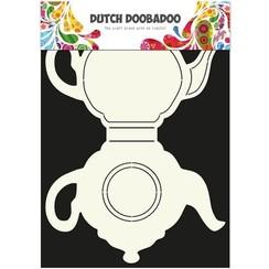 470.713.500 - Dutch Doobadoo Dutch Card Art theepot A4 2x 13,5x20cm   13.500