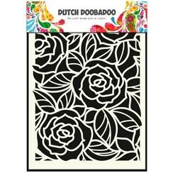 470.715.023 - Dutch Doobadoo Dutch Mask Art stencil Big Roses  A5 15.023