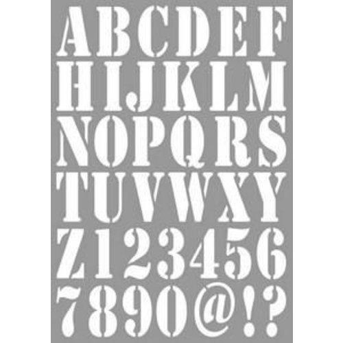 Dutch Doobadoo 470.455.001 - Dutch Doobadoo Dutch Stencil Art Alphabet A4 55.001