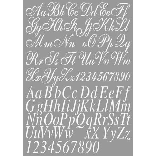 Dutch Doobadoo 470455002 - DDBD Dutch Stencil Art Alphabet 2