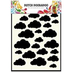 470.715.029 - Dutch Doobadoo Dutch Mask Art stencil Clouds  A5 15.029
