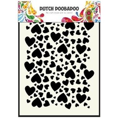 470.715.038 - Dutch Doobadoo Dutch Mask Art stencil hartjes  A5 15.038