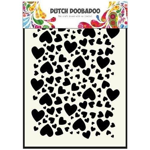 Dutch Doobadoo 470.715.038 - Dutch Doobadoo Dutch Mask Art stencil hartjes  A5 15.038