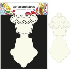 470.713.503 - Dutch Doobadoo Dutch Card Art Stencil Cupcake A4 2x 13,5x12cm 13.503