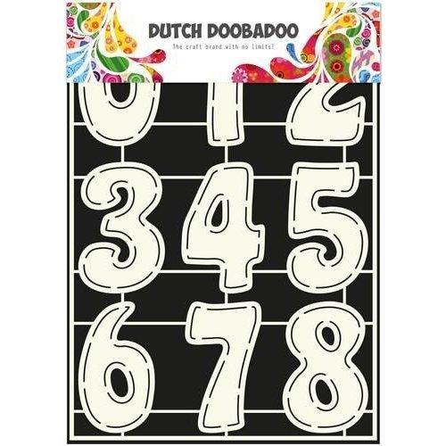 Dutch Doobadoo 470.455.003 - Dutch Doobadoo Dutch Stencil Art Cijfers A4 55.003