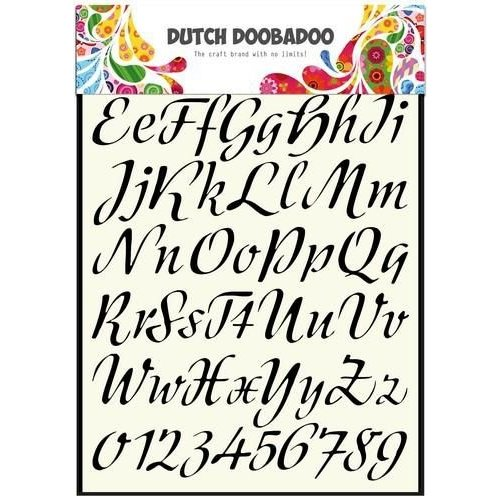 Dutch Doobadoo 470.455.004 - Dutch Doobadoo Dutch Stencil Art Alphabet 3   A4 55.004