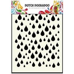 470.741.002 - Dutch Doobadoo Dutch Mask Art stencil Regendruppels A6 41.002