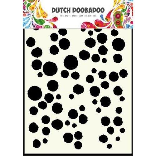 Dutch Doobadoo 470.715.101 - Dutch Doobadoo Dutch Mask Art stencil Grunge dots A5 15.101