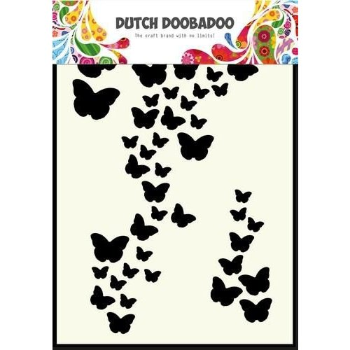 Dutch Doobadoo 470.741.003 - Dutch Doobadoo Dutch Mask Art stencil vlinders A6 41.003
