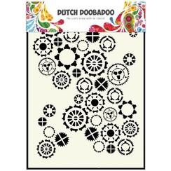 470.154.001 - Dutch Doobadoo Dutch Mask Art stencil fine tandwielen A5 54.001