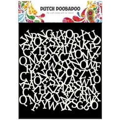 470.715.603 - Dutch Doobadoo Dutch Mask Art stencil alfabet achtergrond 15x15cm 15.603