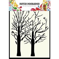 470.154.003 - Dutch Doobadoo Dutch Mask Art stencil fine bomen A6 54.003