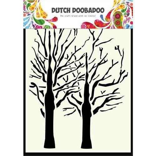 Dutch Doobadoo 470.154.003 - Dutch Doobadoo Dutch Mask Art stencil fine bomen A6 54.003