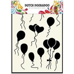 470.715.108 - Dutch Doobadoo Dutch Mask Art stencil Ballonnen normaal-hart  A5 15.108