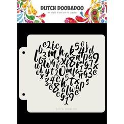 470715153 - DDBD Dutch Mask Alphabet heart