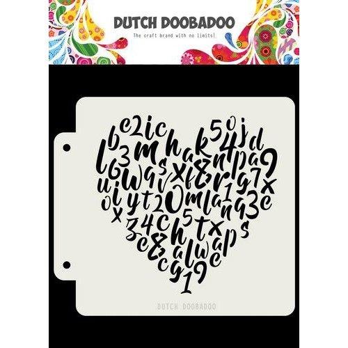 Dutch Doobadoo 470715153 - DDBD Dutch Mask Alphabet heart