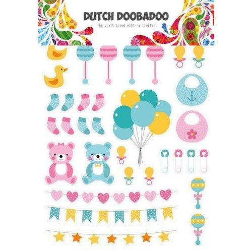 Dutch Doobadoo 474007010 - DDBD Dutch Paper Art A4 Baby elements