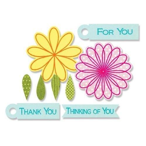 Sizzix 659206 - Sizzix Framelits Die Set 10PK w/stamps - Flowers & Tags 6 Stephanie Barnard