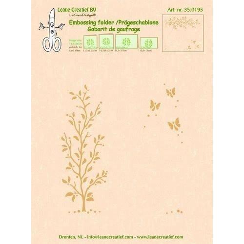 Leane Creatief 35.0195 - LeCrea - Embossing folder Garden scene 95 14.4x16cm