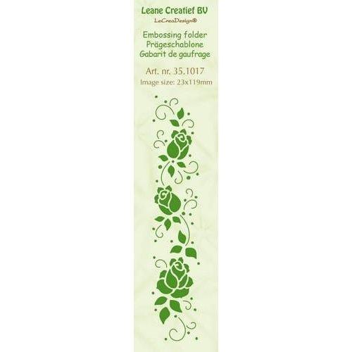 Leane Creatief 35.1017 - Border embossing folder Roses