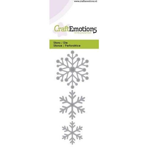 CraftEmotions 115633/0131 - CraftEmotions Die - sneeuw kristallen Card 5x10cm