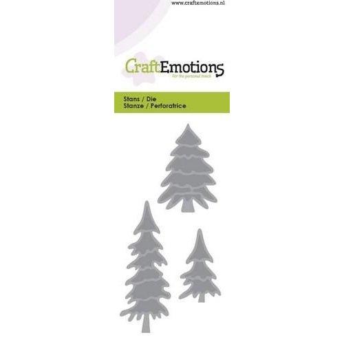 CraftEmotions 115633/0132 - CraftEmotions Die - dennebomen Card 5x10cm